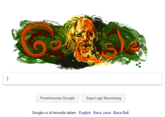 Hari Ini Google Doodle Memeringati Kelahiran Affandi