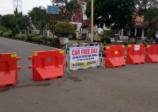 Kali Pertama Car Free Day (CFD) Sekayu