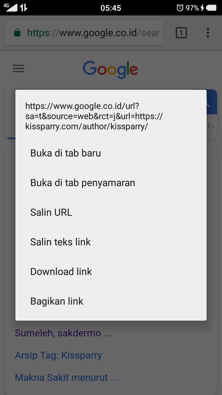 Chrome tab baru