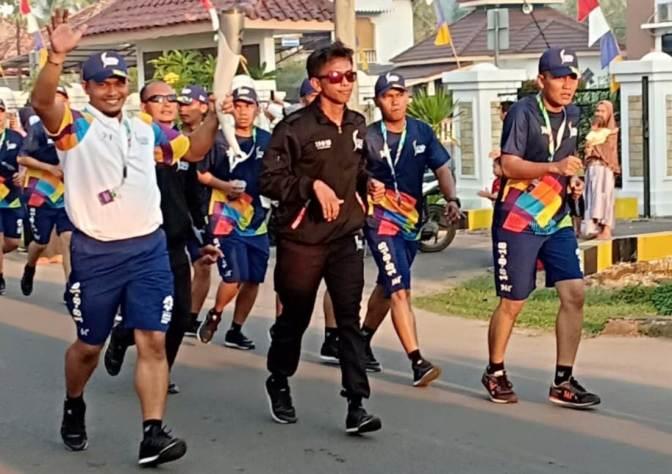 Obor Asean Games 2018 di Kota Sekayu Musi Banyuasin Sumsel