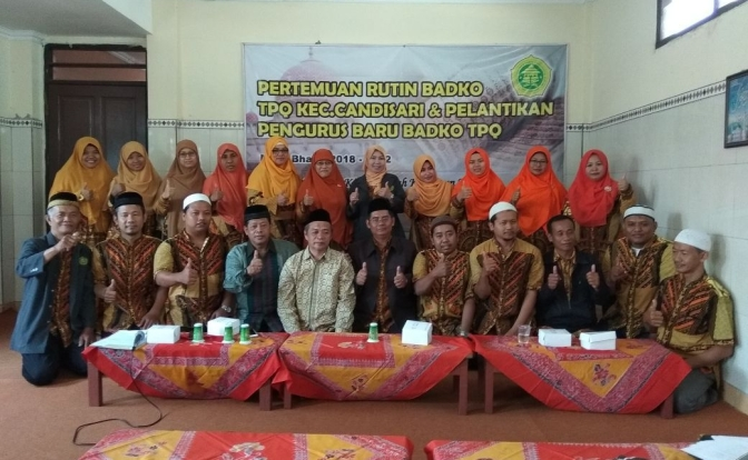 Pengurus Badko TPQ Candisari Semarang Periode 2018-2022 Hari Ini Dikukuhkan