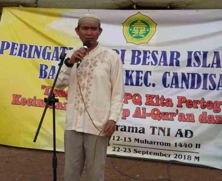 Sambutan Camat Candisari (mewakili) pada Perkemahan Santri Sabtu Minggu di Lapangan Asrama TNI AD Mrican Semarang