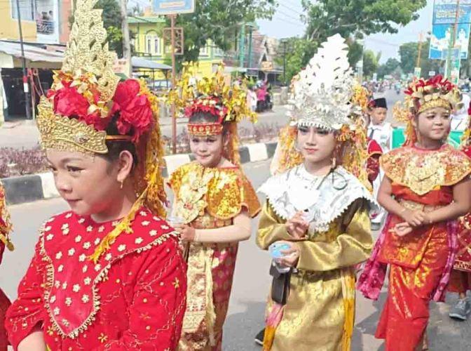 Karnaval Budaya pada Ultah Muba ke-62 Tahun 2018