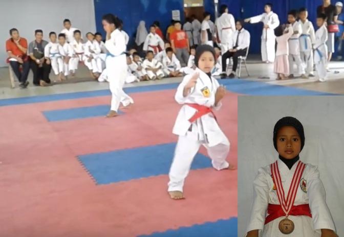 Kejuaraan Karate Boyolali 2018, Fara Qomari Juara 3 Kata 1