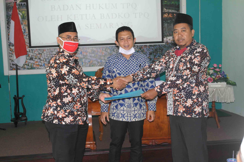 Pengukuhan dan Sertijab Ketua Badko TPQ Kecamatan Candisari Singkat dan Sosialisasi Legalitas TPQ sangat Gayeng