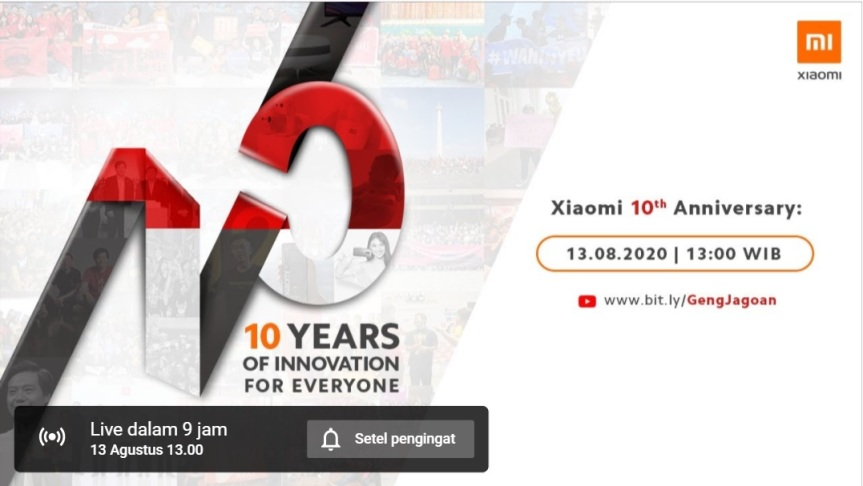 Selamat Xiaomi Indonesia Merayakan Ulang Tahun Ke 10 Hari Ini Banyak Promo Selama Agustus Kissparry