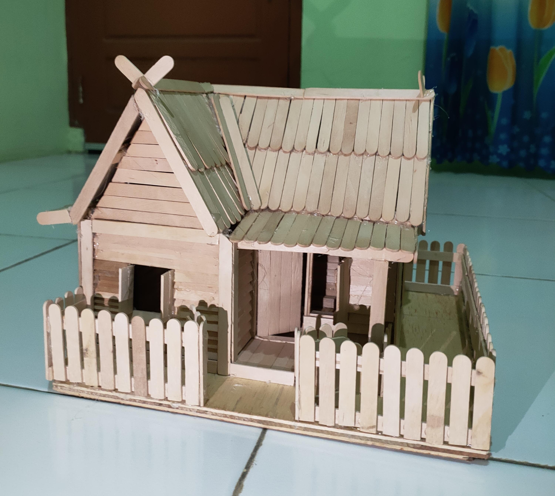Membuat Miniatur Rumah Menggunakan Stik Eskrim, Prakarya SMP Kelas 7