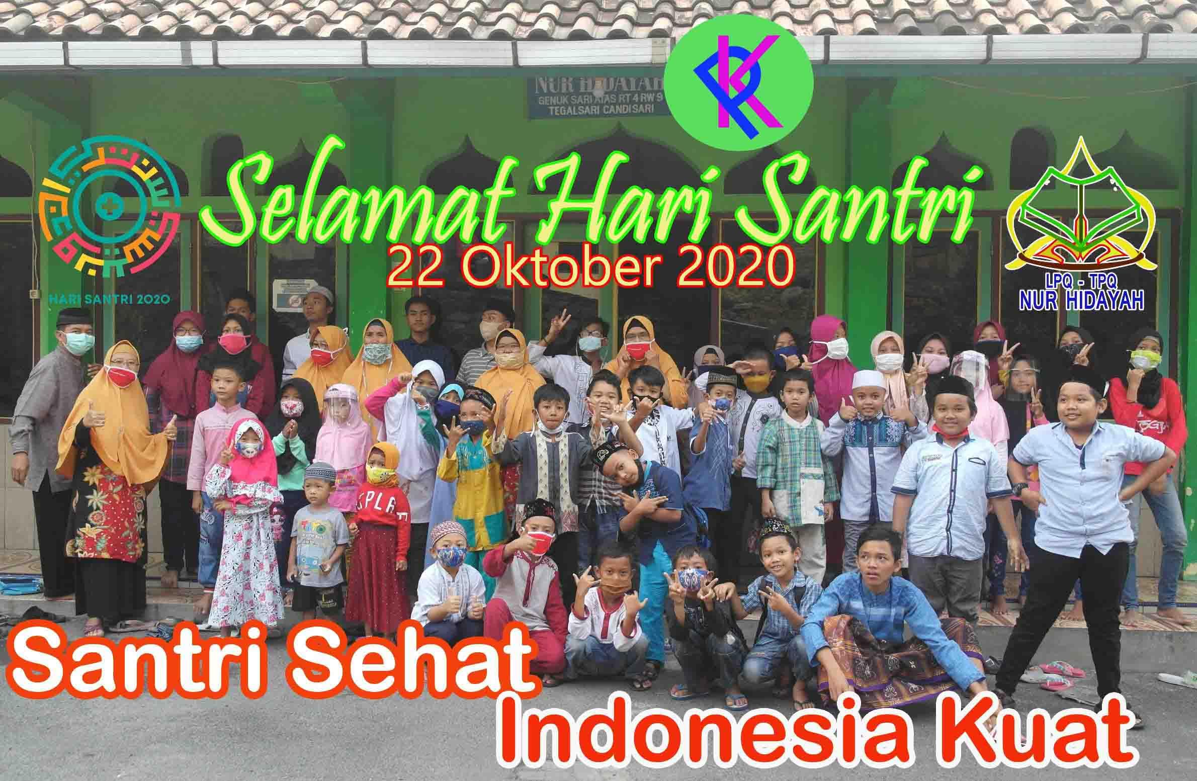 Santri Sehat Indonesia Kuat, Inilah Logo Hari Santri 2020